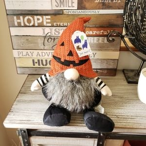 Bat Party Halloween Gnome Orange Knit Hat New